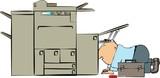 copy machine repairman poster