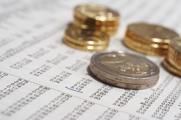 coins and stock quotation
