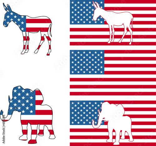poster of american political symbols