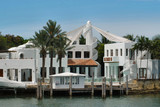 luxurious mansion at star island, miami, florida, poster