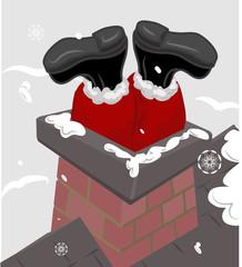 santa in the chimney