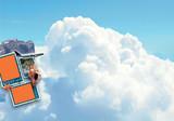 ciel de départ en vacance poster