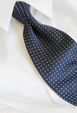 blue necktie and shirt poster