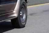 suv wheel motion poster