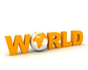 world text globe