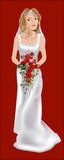 bride on her wedding day poster