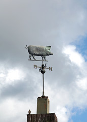 a pig shaped weathervane