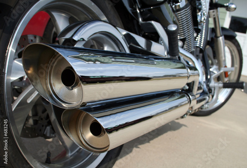 canvas print picture motorcycle exhaust