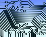 circuit board pattern poster