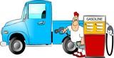 gasoline fillup poster