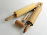 wooden rolls for rolling dough poster