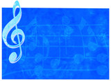 blue music backdrop poster