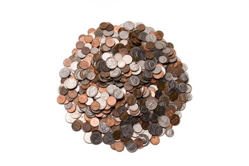big pile of coins