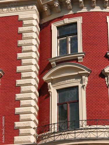 hausfassade in rot von robert mayer lizenzfreies foto 686606 auf. Black Bedroom Furniture Sets. Home Design Ideas