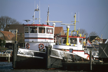 tugs in harbor