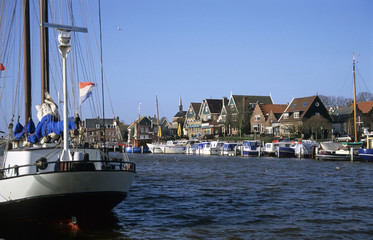 urk harbor with boats