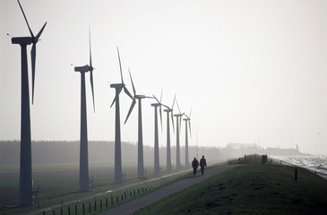 walking by the windpark