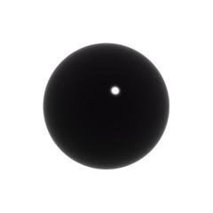 simple black 3d ball