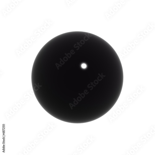 simple black 3d ball