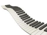 wavy piano keys poster
