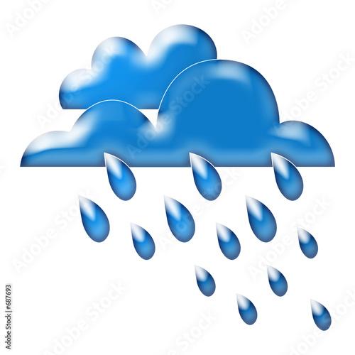 Wetter regen wolken