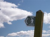 direction public footpath sign poster