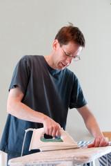 real men iron clothes