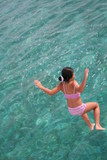 girl jump in water poster
