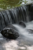 waterfall and rock poster