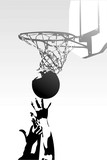 competition in sports - basketball poster