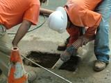 pothole repair, poster