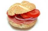 salami sandwich poster