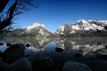 grand tetons from jenny lake