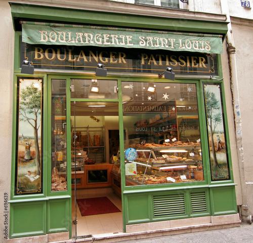 Leinwandbild Motiv bäckerei in paris