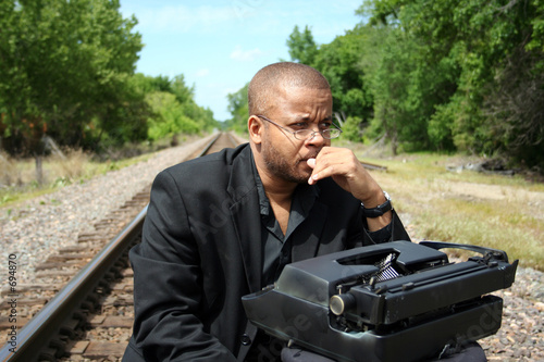 writer on the tracks