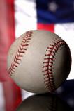 baseball and american flag poster