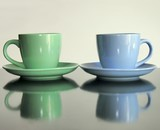 two  ceramic cups poster
