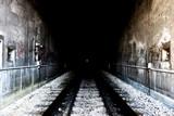 grunge tunnel entrance poster