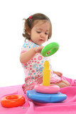 toddler playing with generic toy poster