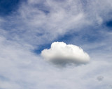 cloud pattern poster