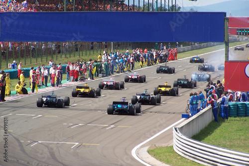 Fotobehang Motorsport départ