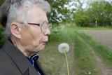 grandma blowing poster