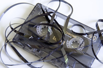 cassette tape unravelled
