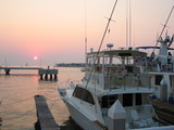 boat yacht sunset key west in harbor poster