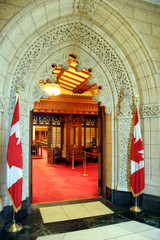canadian parliament entrance to chamber