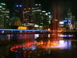 Leinwanddruck Bild melbourne city night