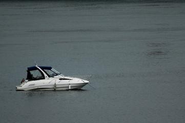 anchored boat