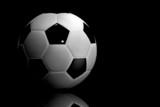 soccer ball - 3d render poster