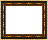 antique picture frame isolated poster