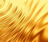 gold waves poster